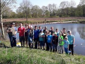 2018-04-21 Forellenangeln Jugendgruppe in Borsum 00028