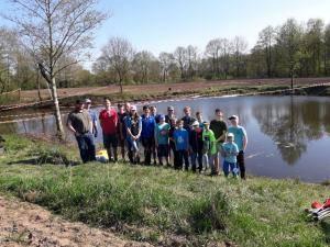 2018-04-21 Forellenangeln Jugendgruppe in Borsum 00030